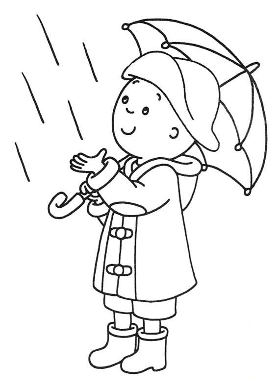 Print Caillou Coloring Page Free