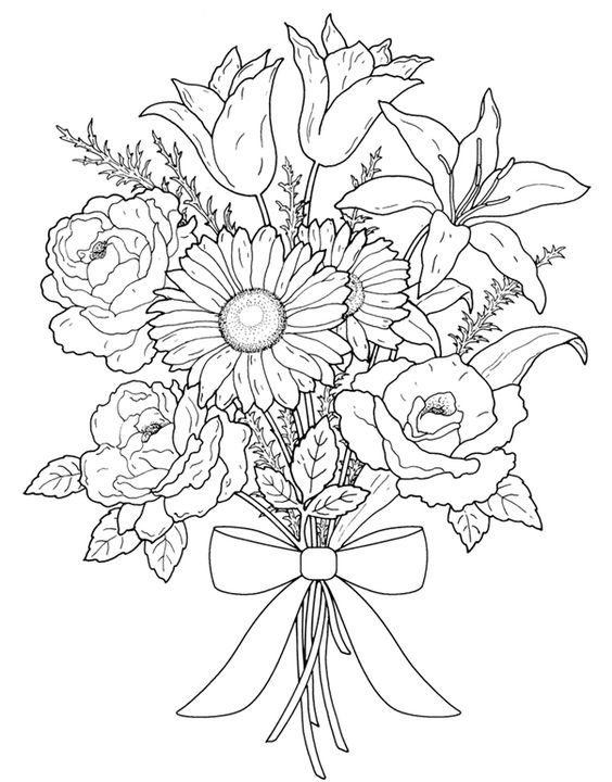 image about Flower Coloring Pages for Adults Printable known as Flower Coloring Internet pages for Grown ups - Great Coloring Internet pages For Youngsters