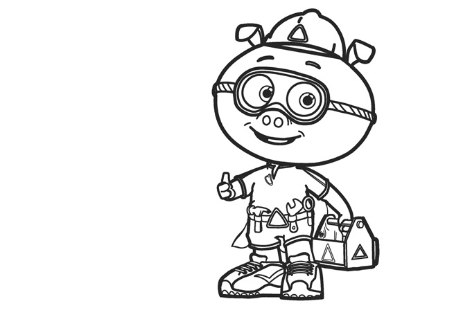 Super Why Coloring Pages - Pig