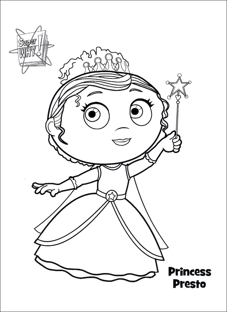 Super Why Coloring Pages - Princess Presto