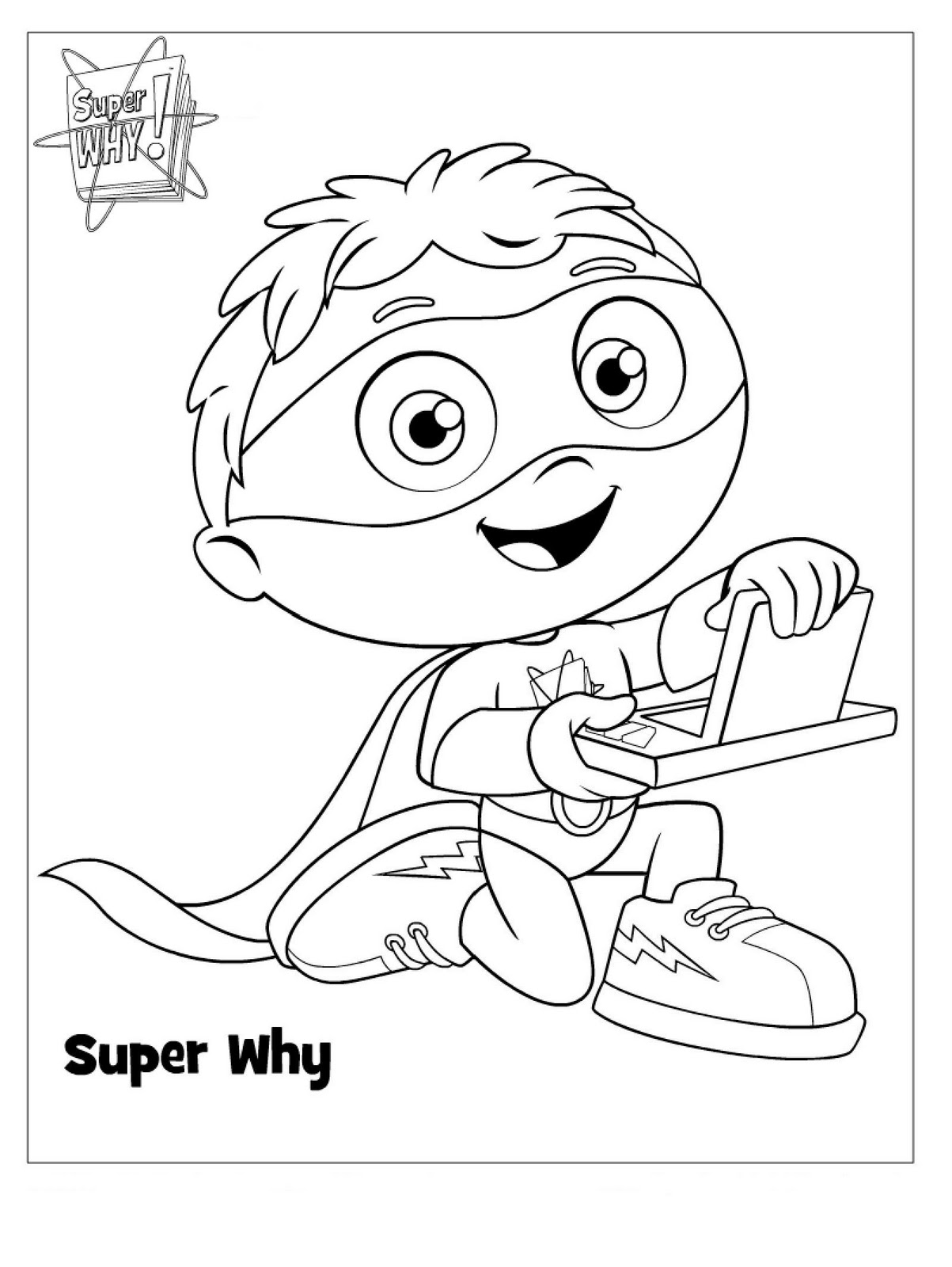 photograph relating to Super Why Printable identified as Tremendous Why Coloring Webpages - Perfect Coloring Webpages For Little ones