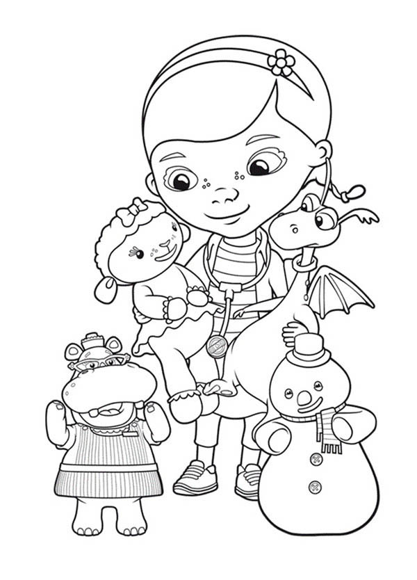image relating to Doc Mcstuffins Printable Coloring Pages called Document McStuffins Coloring Internet pages - Perfect Coloring Internet pages For Young children