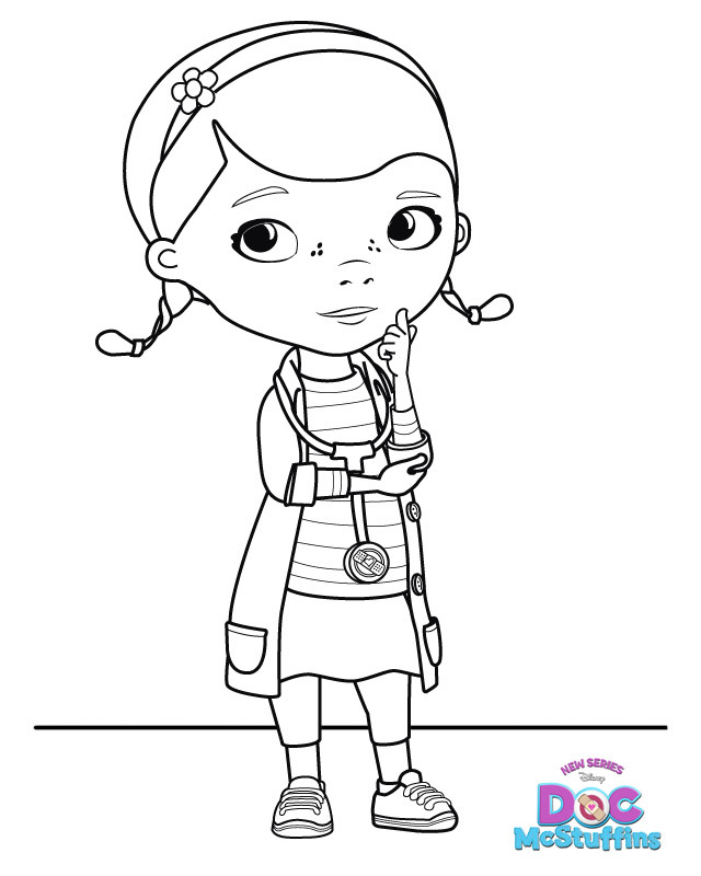 Dottie doc mcstuffins coloring pages