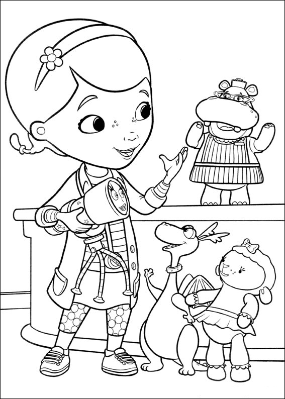 Dottie and her Toys Doc McStuffins Coloring