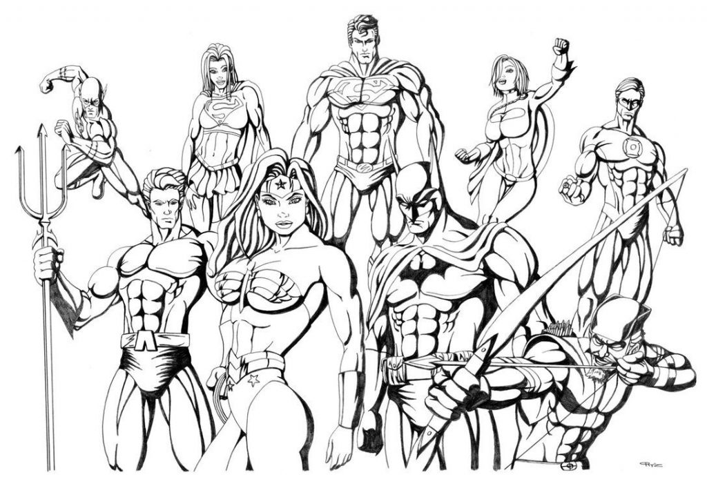 Free Printable Justice League Coloring Page