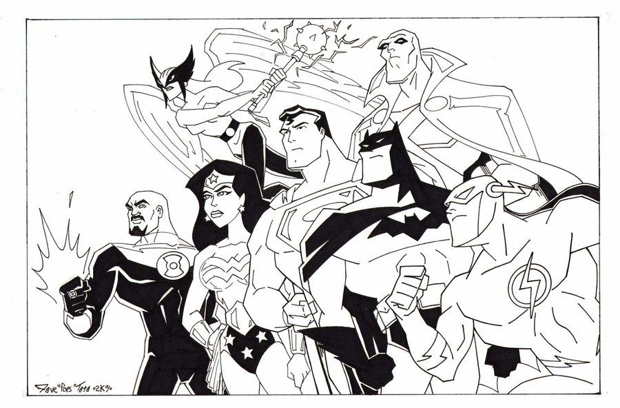 Free Printable Justice League Coloring Pages