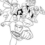 Justice League Coloring Page Characters