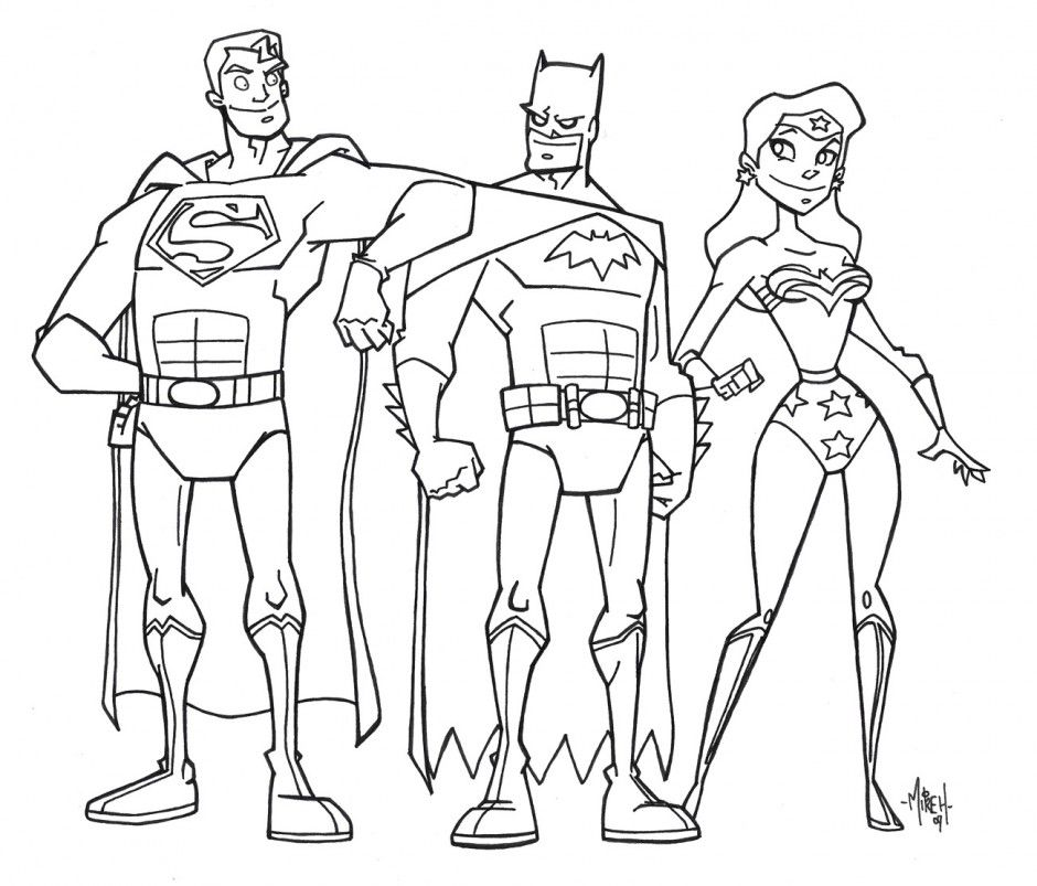 Justice League Coloring Page Pictures