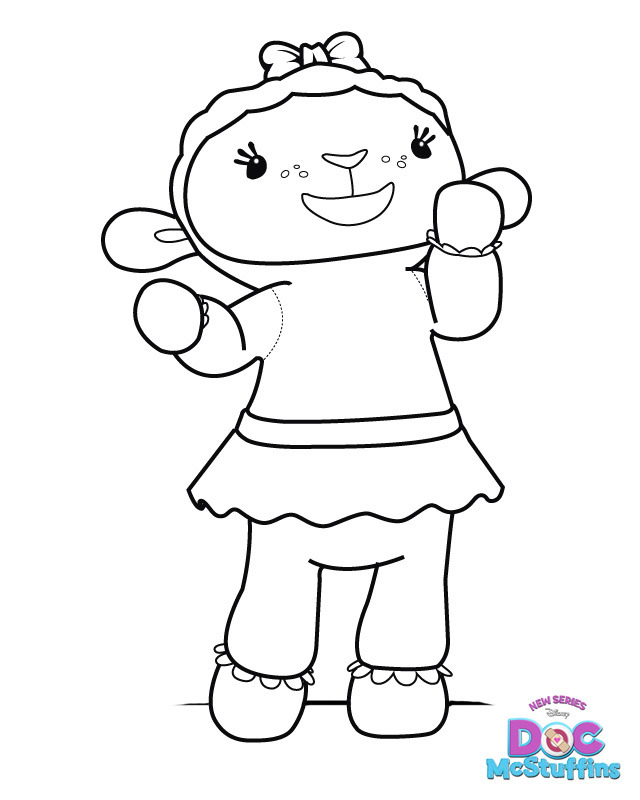 Lambie Doc McStuffins Coloring Pages