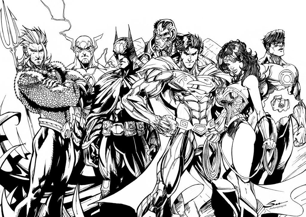 Printable Justice League Characters to Color