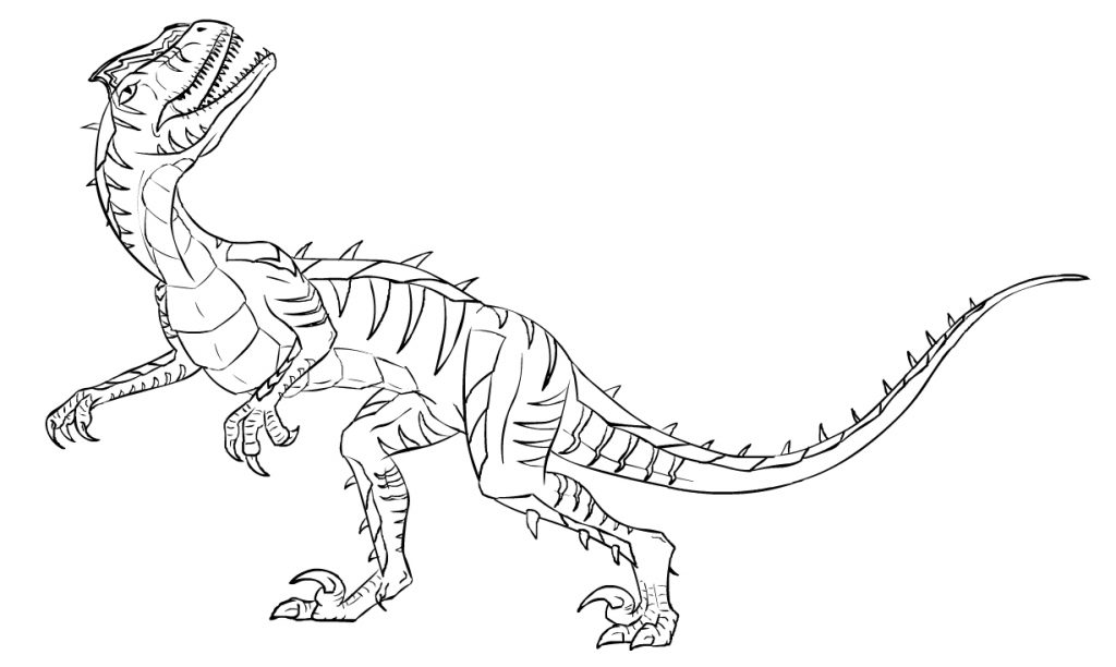 velociraptor jurassic park coloring pages - photo#12