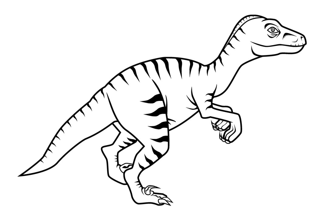 dinosaur raptor coloring pages - photo#17