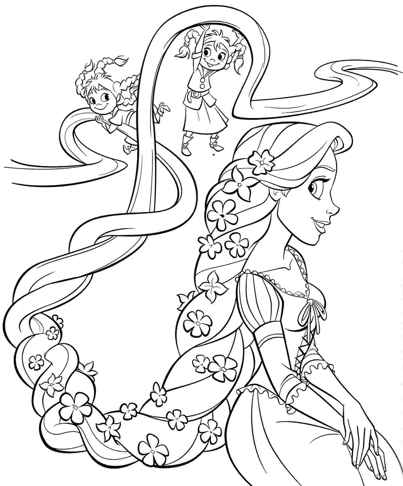 Angel Princess Coloring Pages Tangled Rapunzel