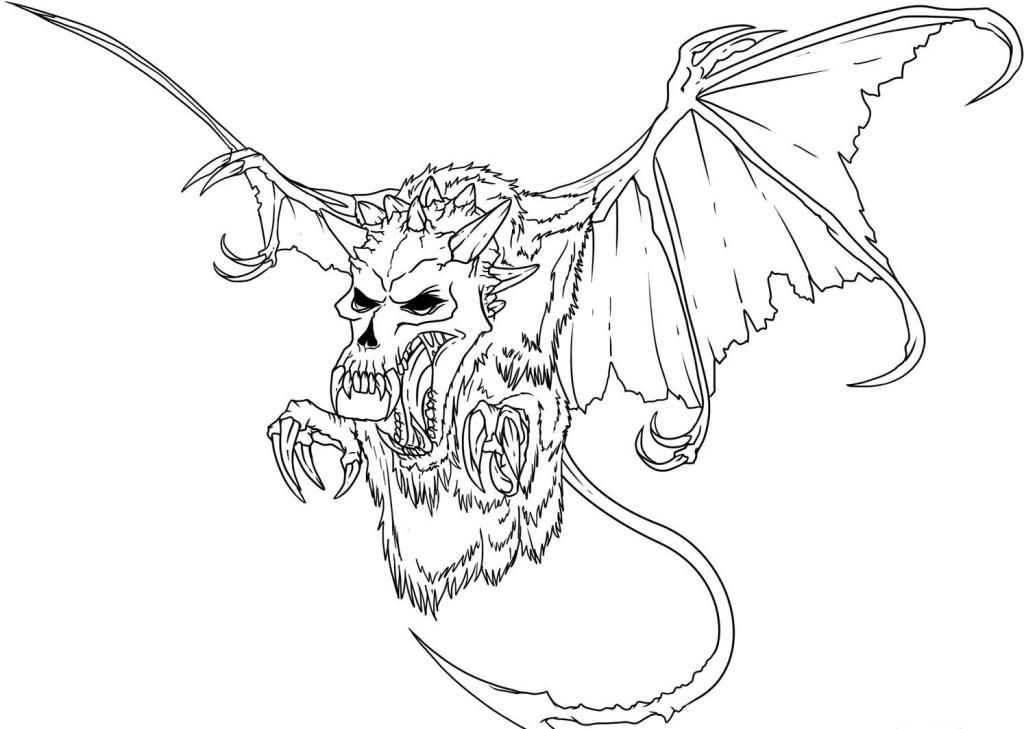 free scary monster coloring pages - photo#32