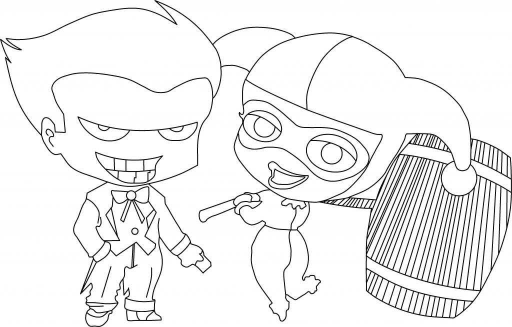 Cartoon suicide squad coloring pages