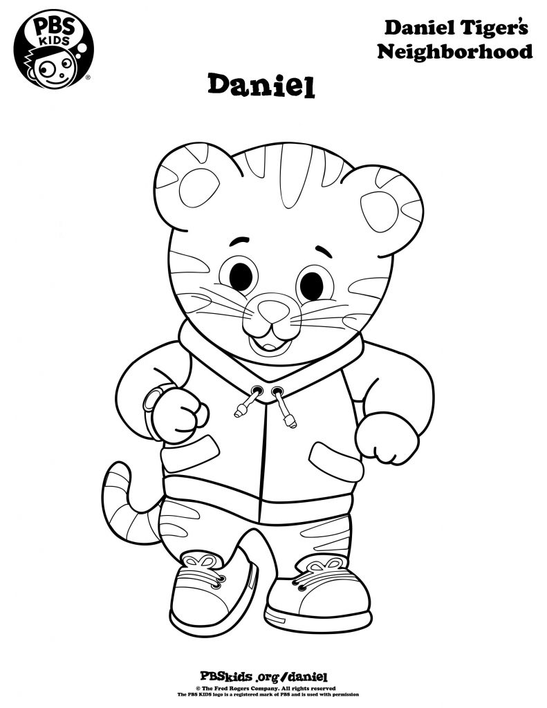 Daniel Tiger Coloring Pages on Owl Coloring Pages