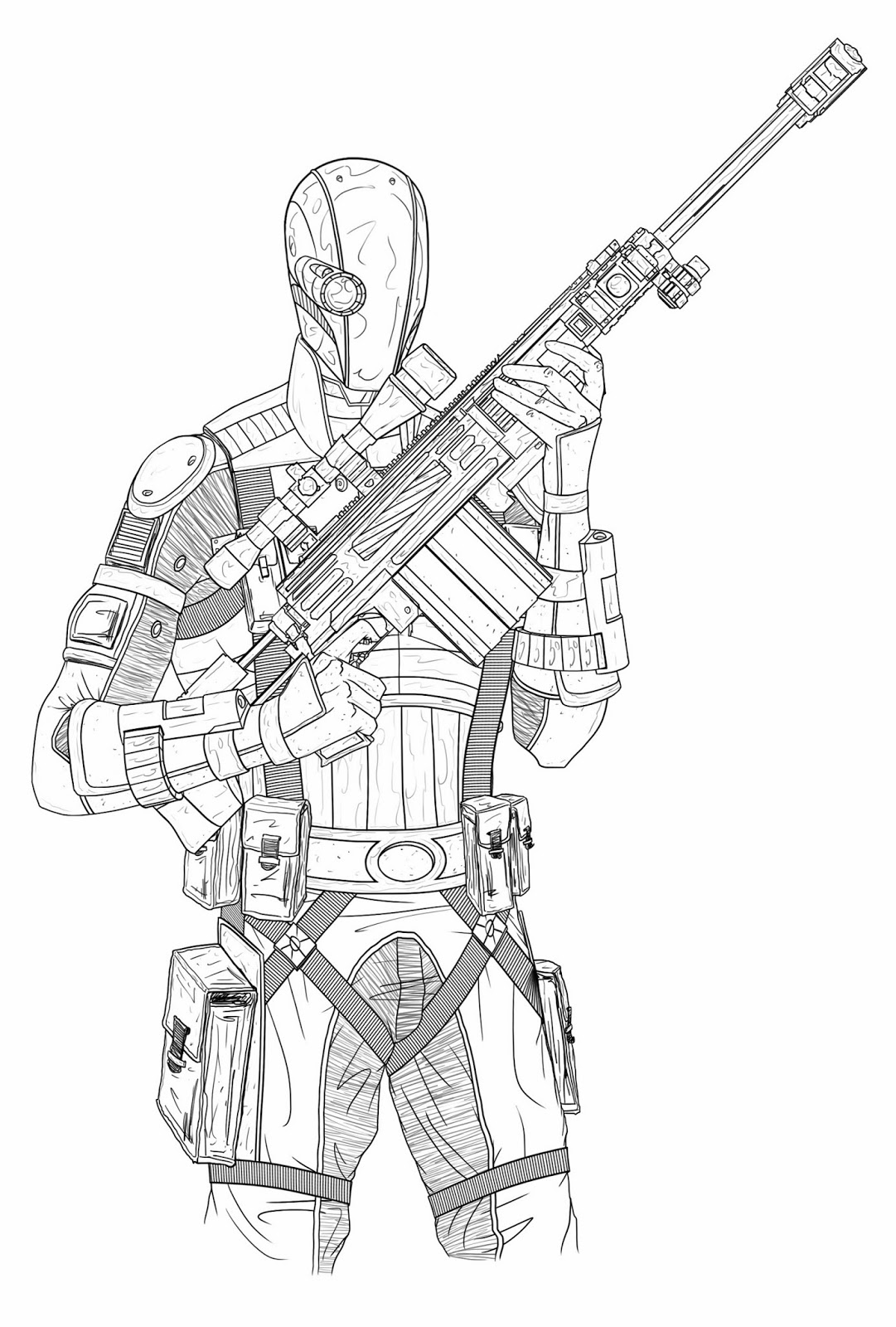 Deathstroke Comics Coloring Page