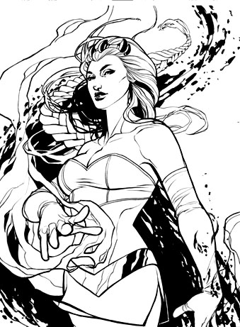 Enchantress Coloring Page