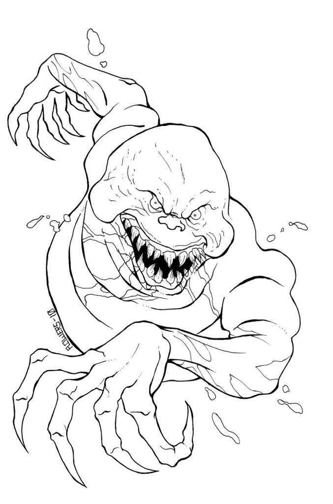Evil Ghost - Scary Coloring Pages