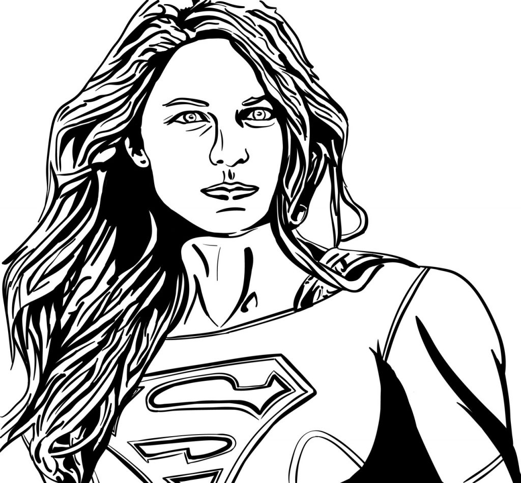 Female Superhero - Supergirl Coloring Pages
