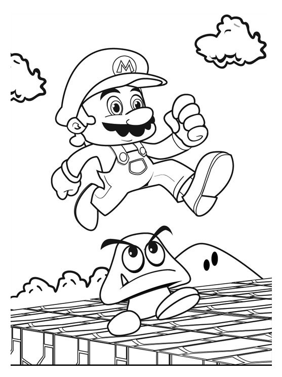 Fun Super Mario Coloring Pages