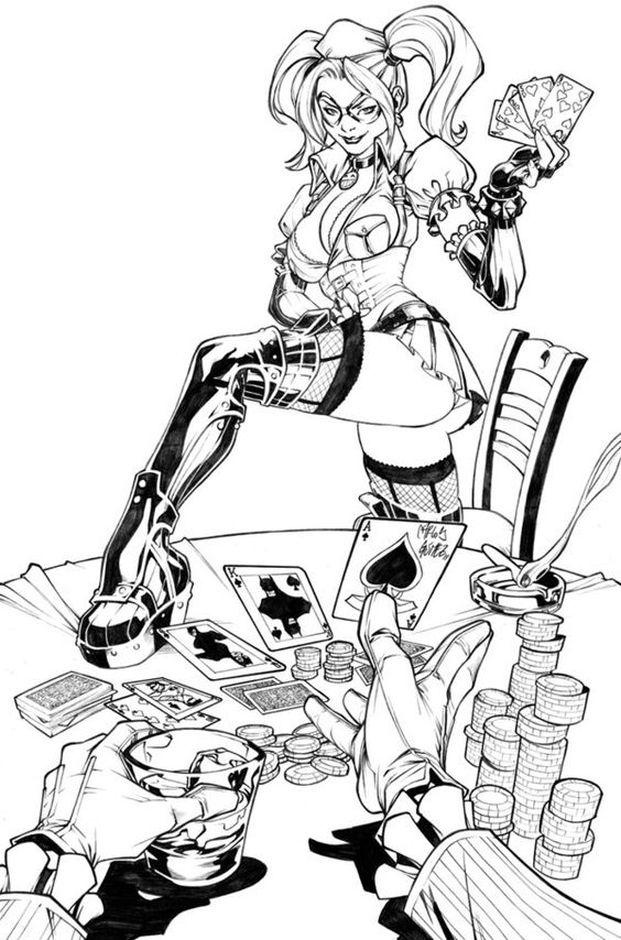 Harley Suicide Squad Coloring Pages