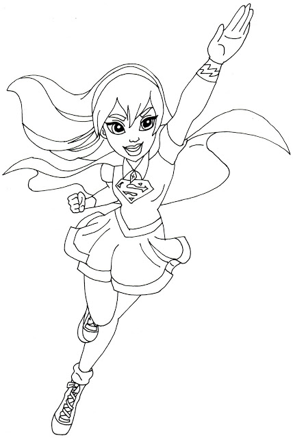 Hero Supergirl Coloring Pages
