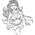 Kara Zor-El Supergirl Coloring Pages