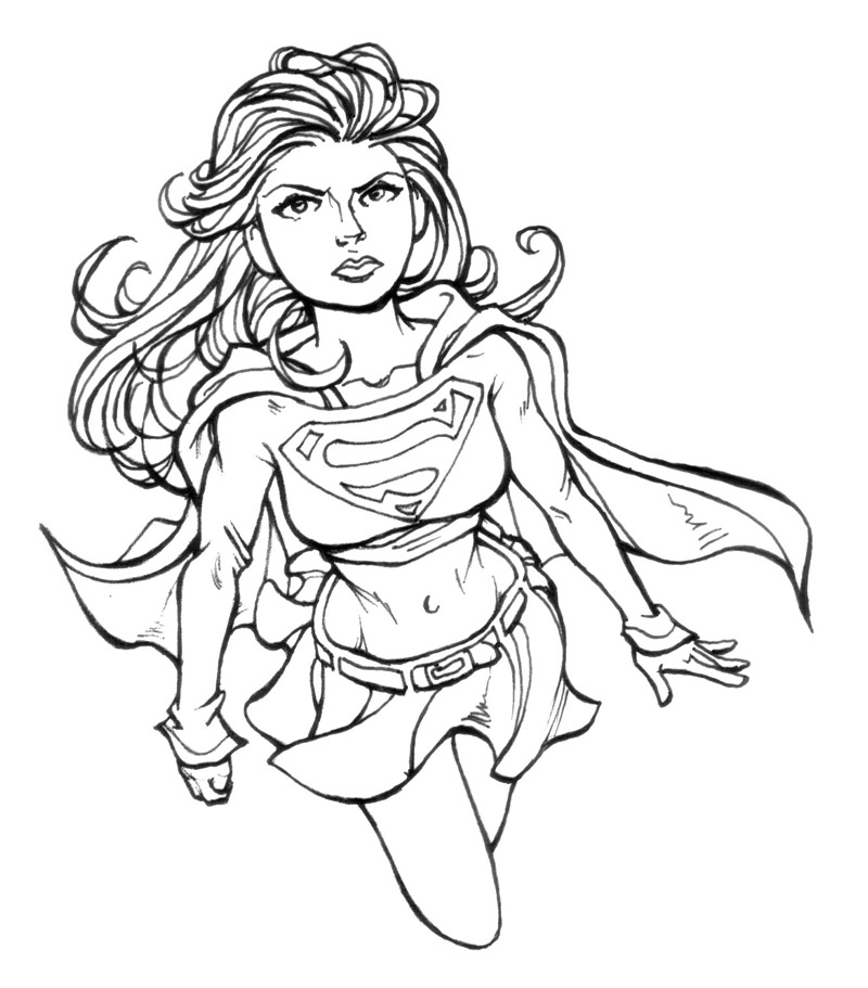 Kara zor el supergirl coloring pages