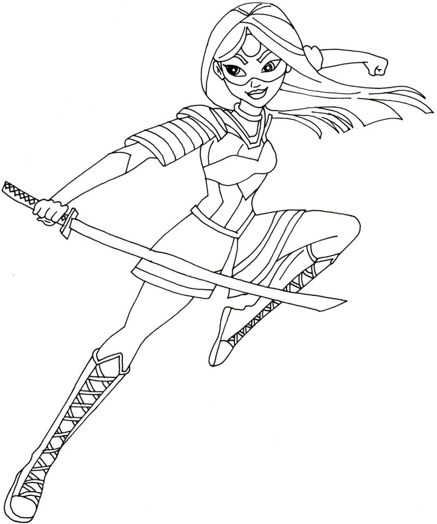 Katana Suicide Squad Coloring Pages