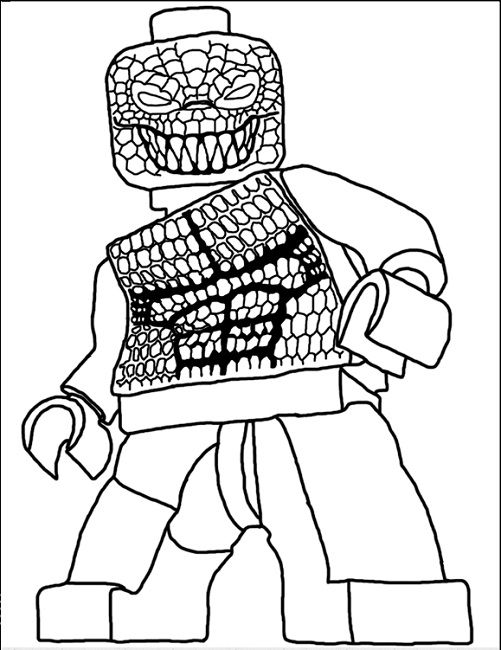 Lego Suicide Squad Coloring Pages
