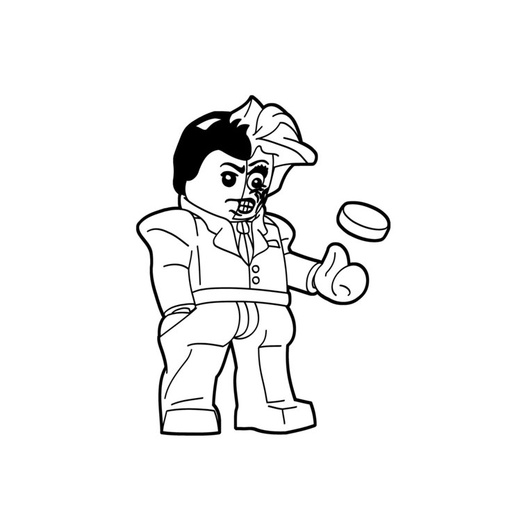 Lego Two Face Coloring Page