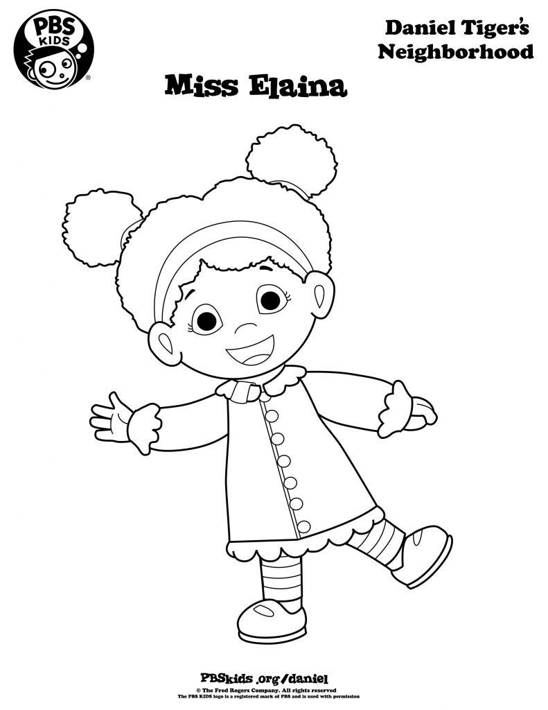 Miss Elaina - Daniel Tiger Coloring Pages