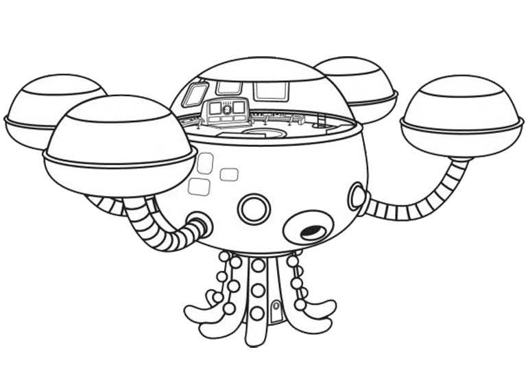 octopod octonauts coloring pages