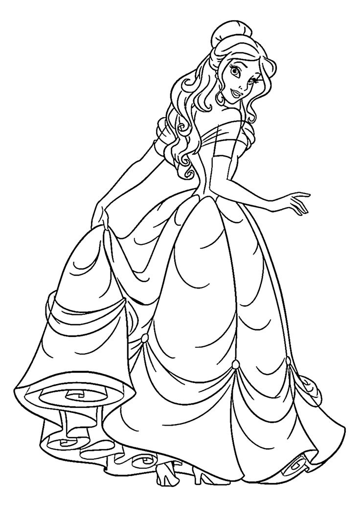 princess and coloring pages - photo#10