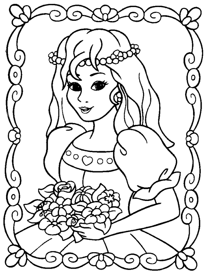 prncess coloring pages - photo#39