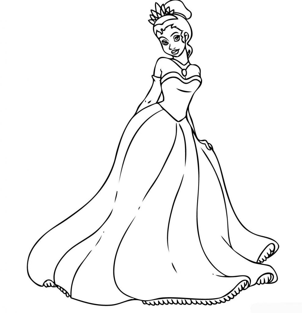 Print Princess Coloring Pages