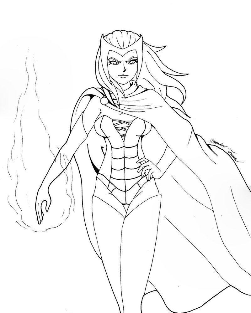 Scarlet Witch Coloring Pages