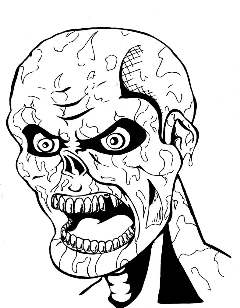 Scary Zombie - Scary Coloring Pages