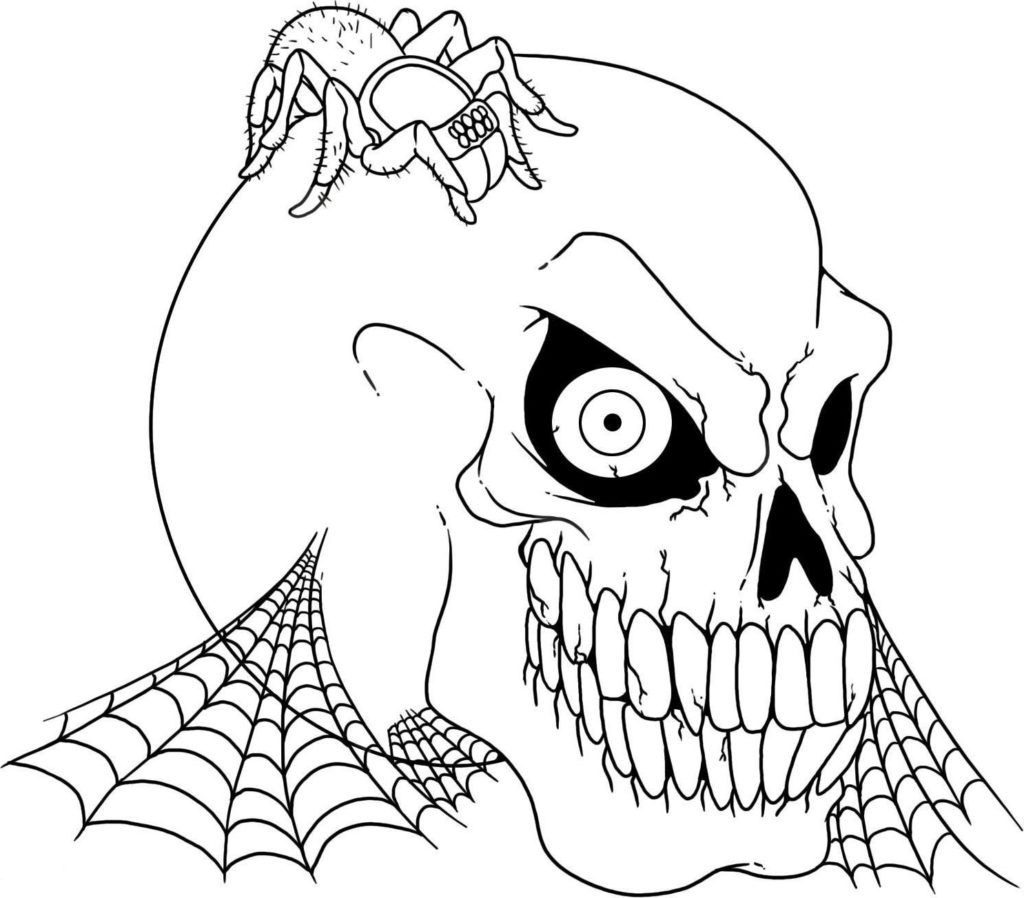 scary coloring pages - photo#4
