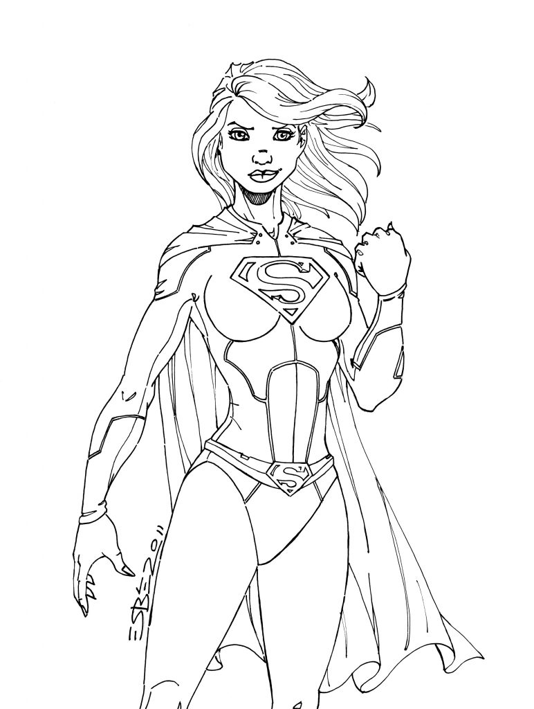 Supergirl Coloring Page Printable