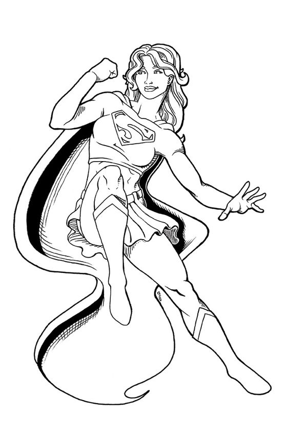 Supergirl Coloring Printable