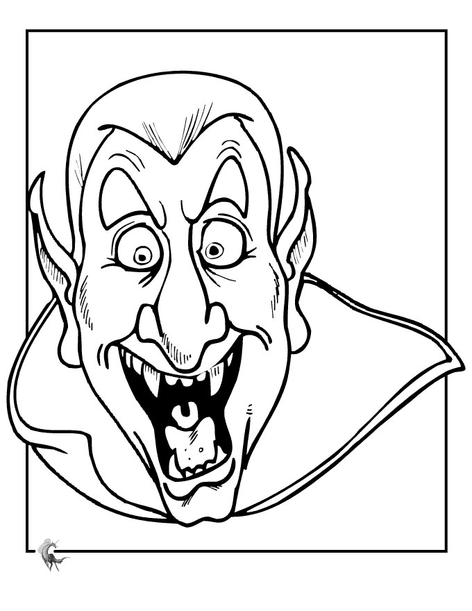 Vampire - Scary Coloring Pages