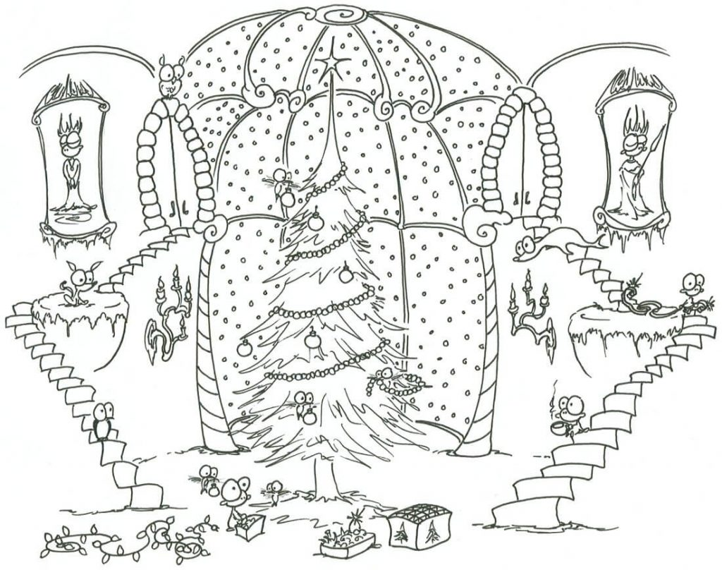 Christmas Tree - Christmas Coloring Pages for Adults