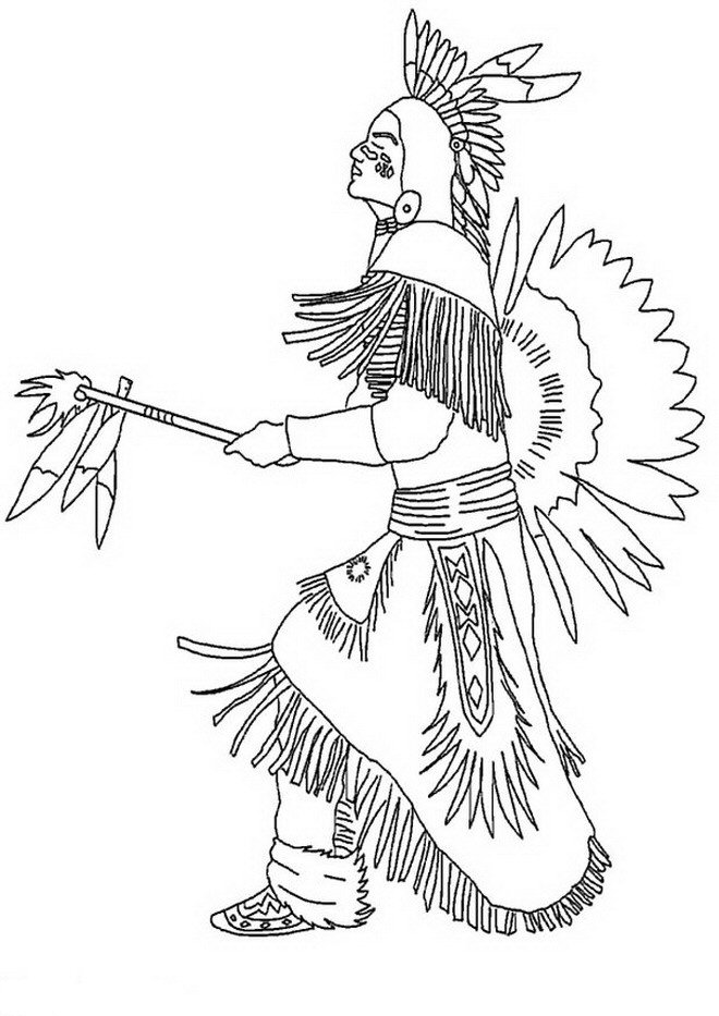 Dance - Native American Coloring Pages