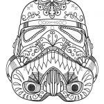 Darth Vader Sugar Skull Coloring Page