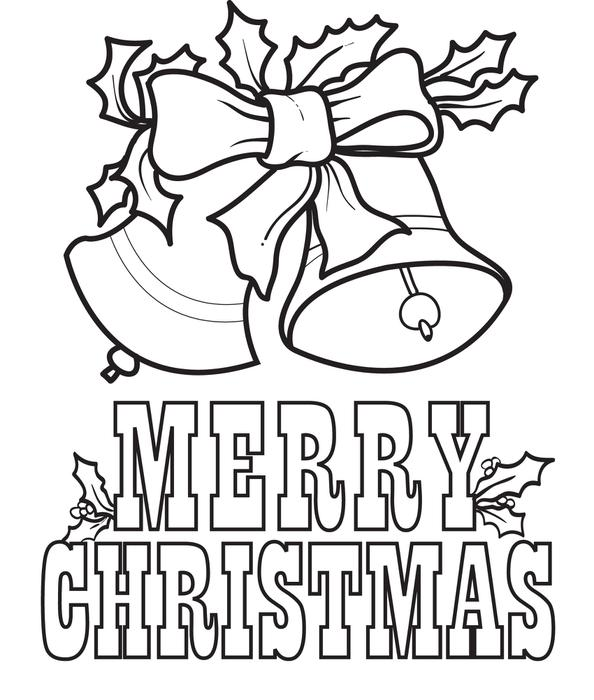 merry christmas coloring pages bells