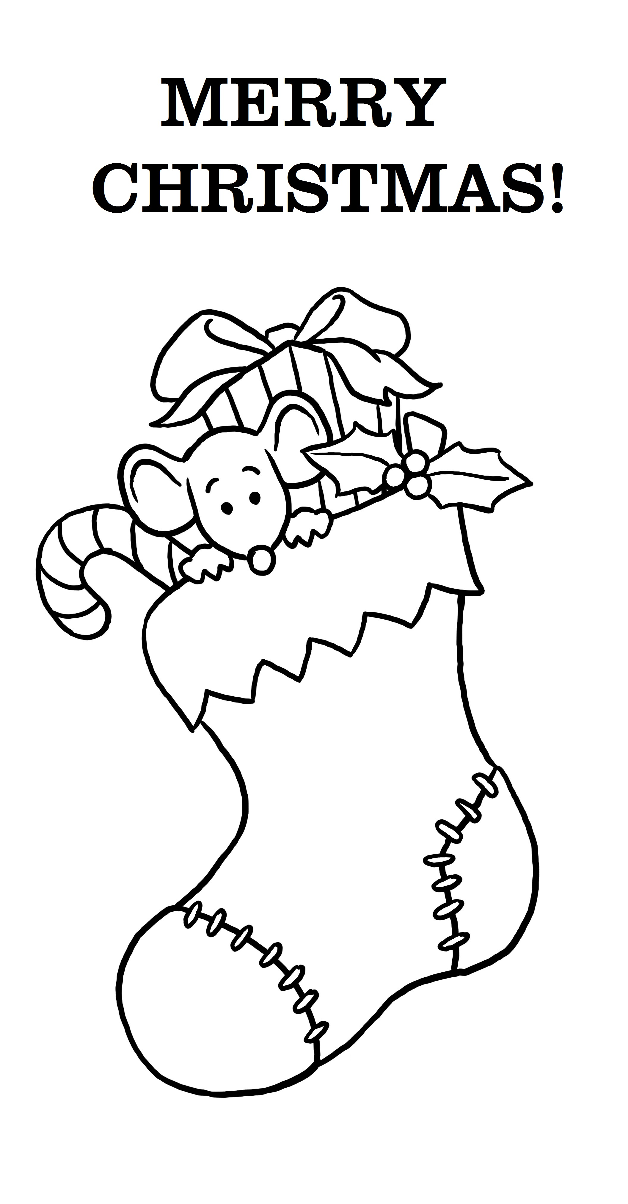 merry christmas coloring pages stocking