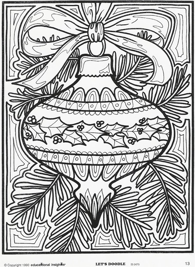 ornament christmas coloring pages for adults