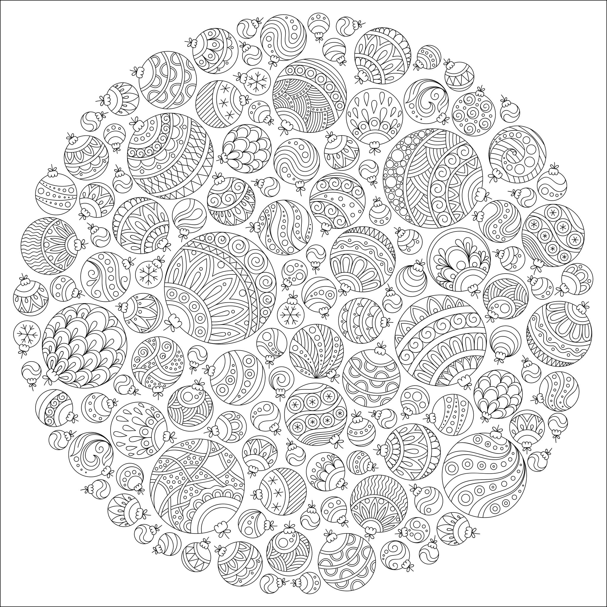 ornament mandala christmas coloring pages for adults